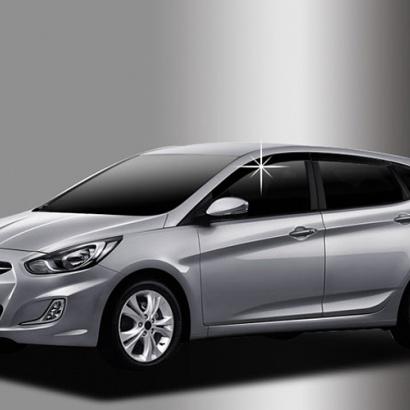 Дефлекторы боковых окон на Hyundai Solaris