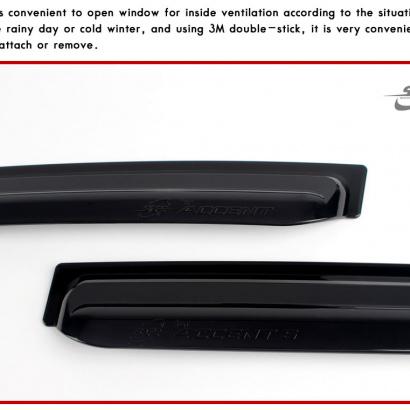 Дефлекторы на боковые окна на Hyundai Solaris