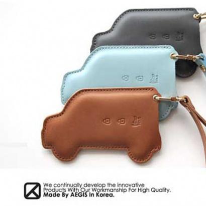 Кожаный чехол для смарт-ключа - 3 кнопки на Hyundai Solaris