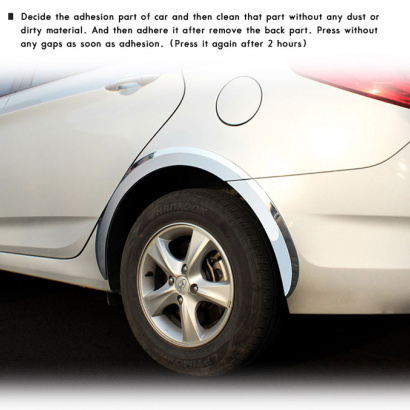 Молдинг колесных арок на Hyundai Solaris