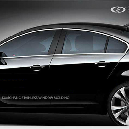 Молдинг окон (нерж.сталь) комплект - 6 шт. на Hyundai Solaris