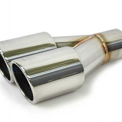 Насадка на глушитель, вход 62 мм, выход 2х76 мм. JUN BL JBL5T-M002