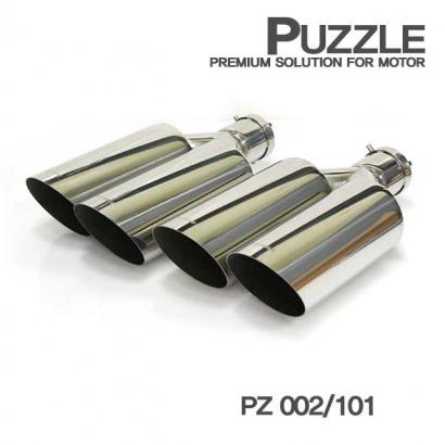 Двойная насадка на глушитель, вход 62 мм Puzzle PZ 002-101