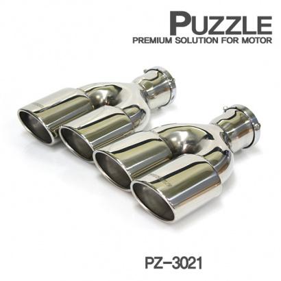 Двойная насадка на глушитель, вход 48мм Puzzle PZ-3021