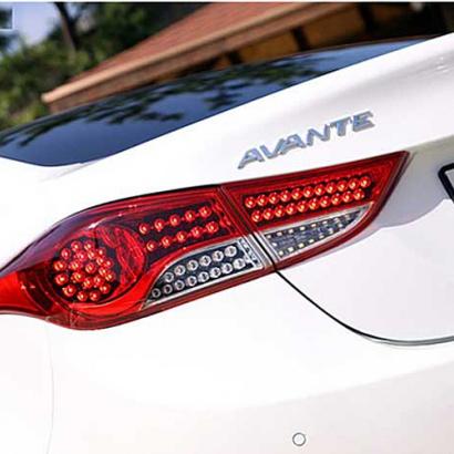 Светодиодные модули задних фонарей на Hyundai Elantra 5 (Avante MD)