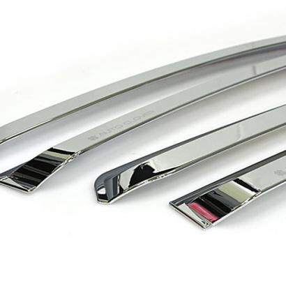 Дефлекторы на боковые окна на Hyundai Sonata 6 (YF)