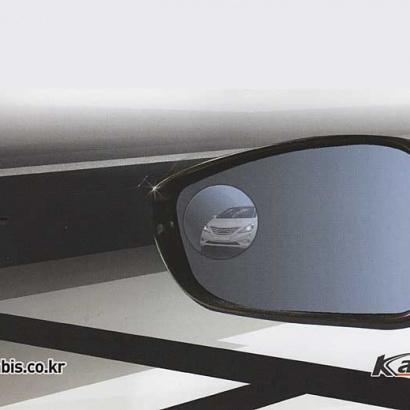 Зеркалальные элементы слепой зоны в боковые зеркала  на Hyundai Sonata 6 (YF)