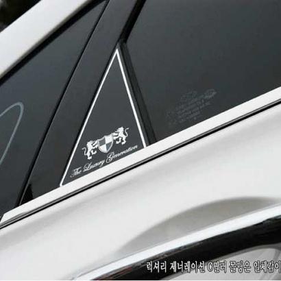 Накладки на задние стойки на Hyundai Sonata 6 (YF)