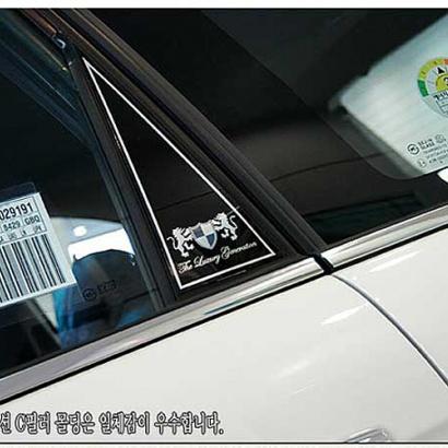 Молдинг задних стоек на Kia Sorento XM