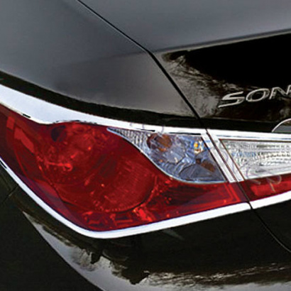 Накладки на задние фонари на Hyundai Sonata 6 (YF)