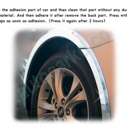 Молдинг колесных арок на Hyundai Sonata 6 (YF)
