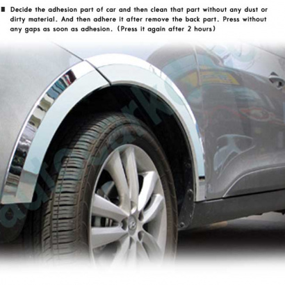 Молдинг на колесные арки на Hyundai ix35