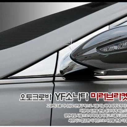 Молдинг на крепления боковых зеркал на Hyundai Sonata 6 (YF)