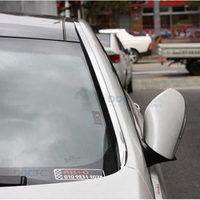 Молдинг лобового стекла и рейлингов на Hyundai Sonata 6 (YF)