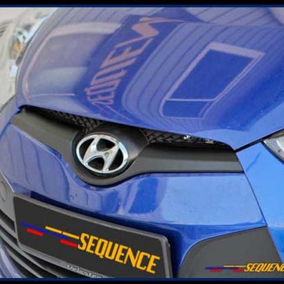 Молдинг решетки радиатора на Hyundai Veloster