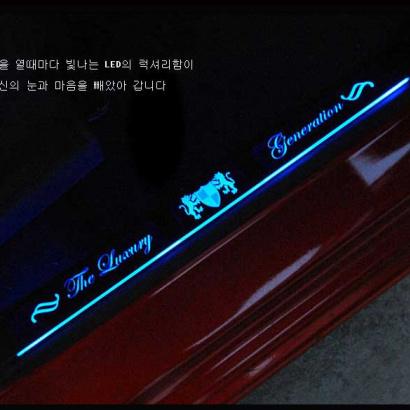 Накладки на пороги в салон с подсветкой на Hyundai ix35