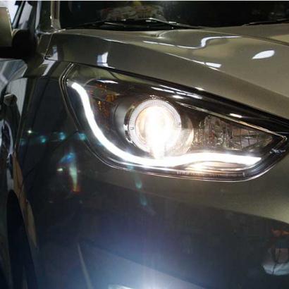 Передняя тюнинг-оптика на Hyundai ix35