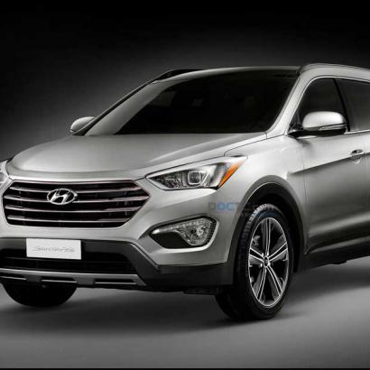 Хром-пакет - 3 элемента. на Hyundai Santa Fe 3 (DM)