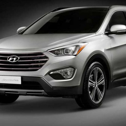 Хром-пакет 7 элементов на Hyundai Santa Fe 3 (DM)