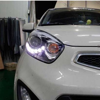 Передняя тюнинг-оптика светодиодная на Kia Picanto 2