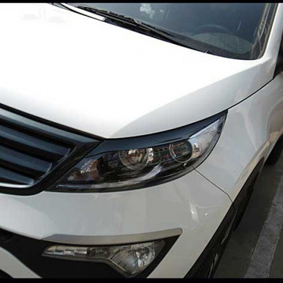 Реснички на фары на Kia Sportage 3 (III)