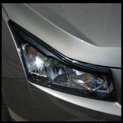 Реснички на фары + накладки на крылья на Chevrolet Cruze 2