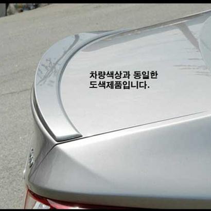 Спойлер на крышку багажника окрашенный на Hyundai Sonata 6 (YF)