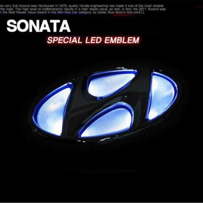 Эмблемы с LED подсветкой  Sense Light на Hyundai