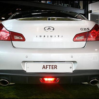 Диффузор заднего бампера на Infiniti G 35 седан