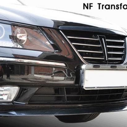 Юбка переднего бампера на Hyundai Sonata 5 (NF)