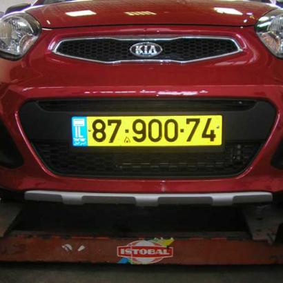 Протекторы переднего и заднего бамперов на Kia Picanto 2