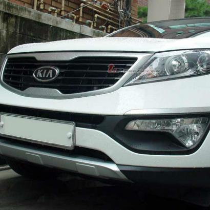 Протекторы переднего и заднего бамперов на Kia Sportage 3 (III)