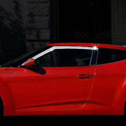 Дефлекторы на боковые окна на Hyundai Veloster