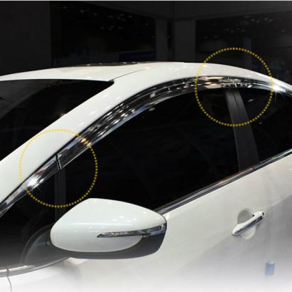 Дефлекторы боковых окон на Kia Cerato 3