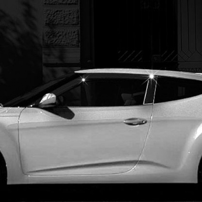Дефлекторы боковых окон на Hyundai Veloster