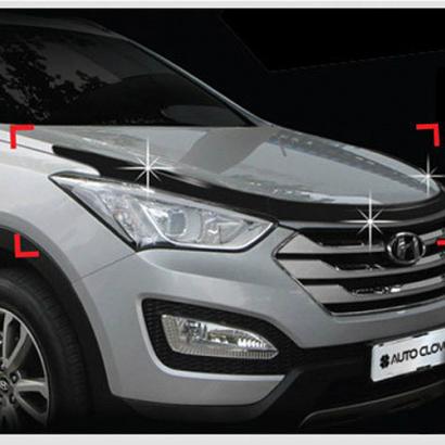 Дефлектор капота на Hyundai Santa Fe 3 (DM)