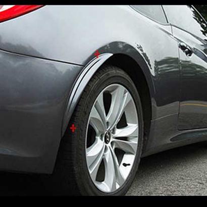 Накладки на задние крылья окрашенные на Hyundai Veloster