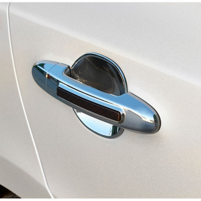 Молдинг выемок ручек дверей на Hyundai Sonata 5 (NF)