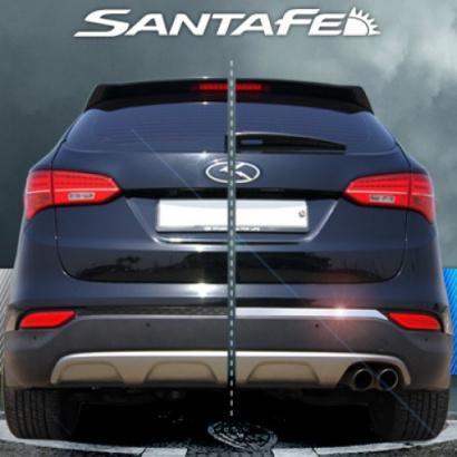 Молдинг заднего бампера на Hyundai Santa Fe 3 (DM)