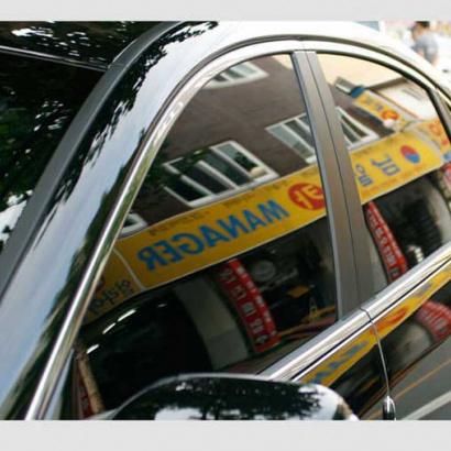 Молдинги окон на Hyundai Sonata 5 (NF)
