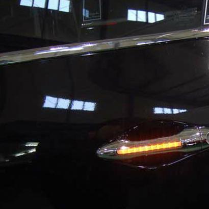 Молдинг ручек дверей с подсветкой на Hyundai Sonata 5 (NF)