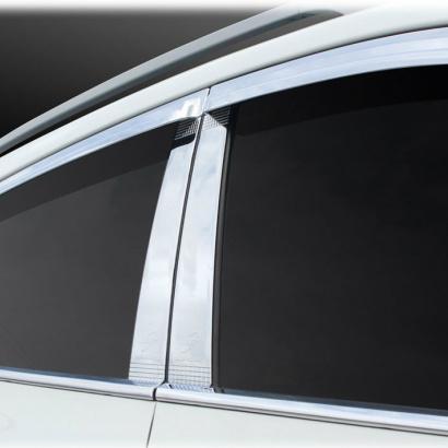 Молдинг центральных стоек на Hyundai Sonata 5 (NF)