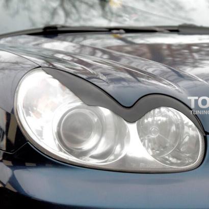 Реснички на фары на Hyundai Sonata 4 (EF)
