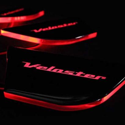 Светодиодные вставки под внутренние ручки дверей на Hyundai Veloster