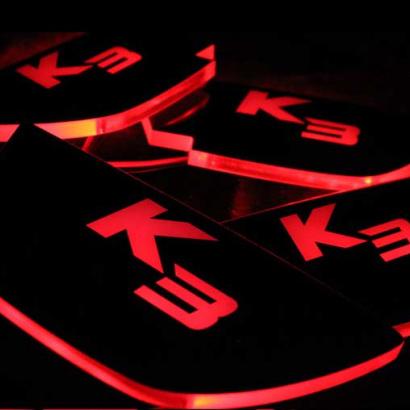 Светодиодные вставки под внутренние ручки дверей на Kia Cerato 3