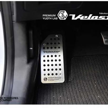 Накладка на площадку отдыха ноги на Hyundai Veloster