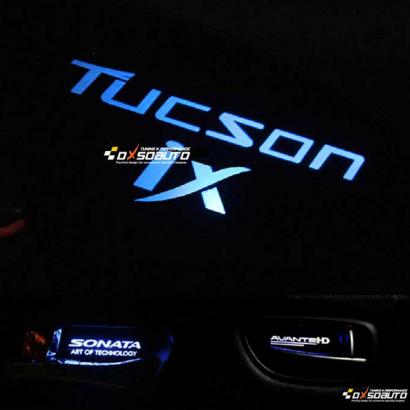 Светодиодные вставки под внутренние ручки дверей на Hyundai Sonata 5 (NF)