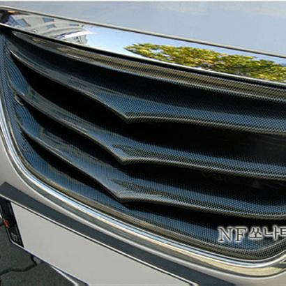 Тюнинг-решетка радиатора окрашенная на Hyundai Sonata 5 (NF)
