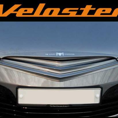 Тюнинг решетка радиатора окрашенная на Hyundai Veloster
