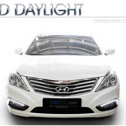 Светодиодные дневные ходовые огни  на Hyundai Grandeur 5